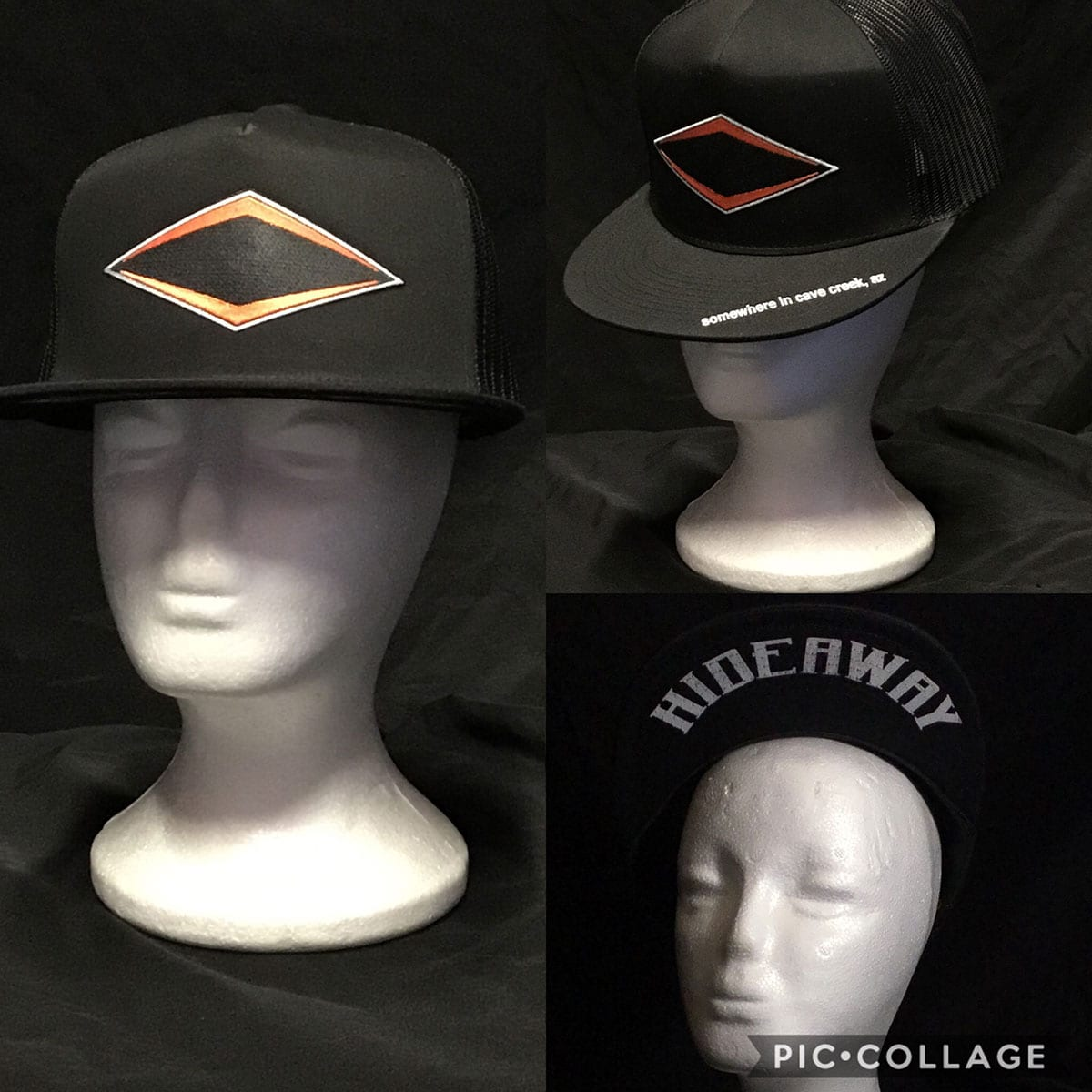 The Hideaway Grill - Cave Creek: Ghost Logo Baseball Cap - Black