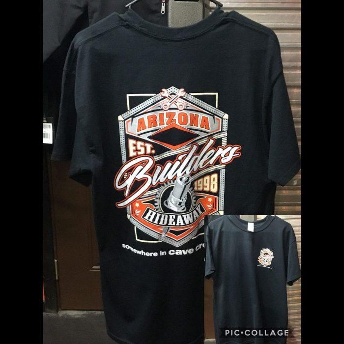 The Hideaway Grill: Men's Short Sleeve Builders Shirt - Black