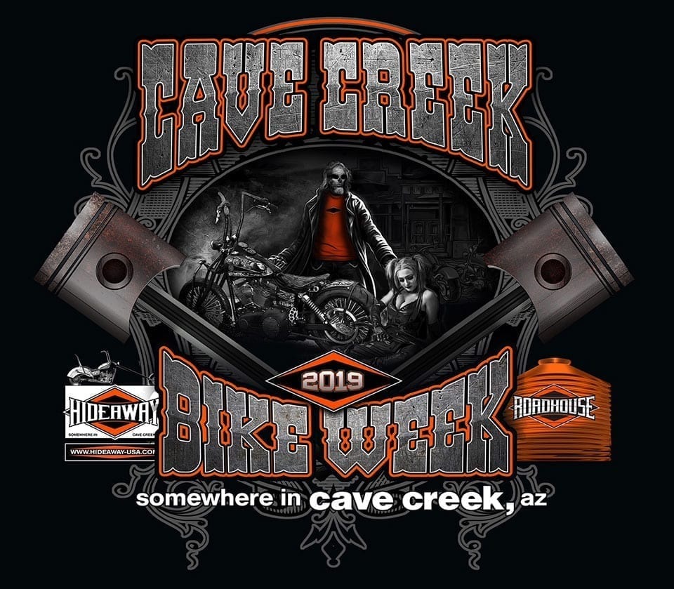 2019 Cave Creek Arizona Bike Week at the Hideaway Grill and Roadhouse - Mar 29th-April 7th, 2019