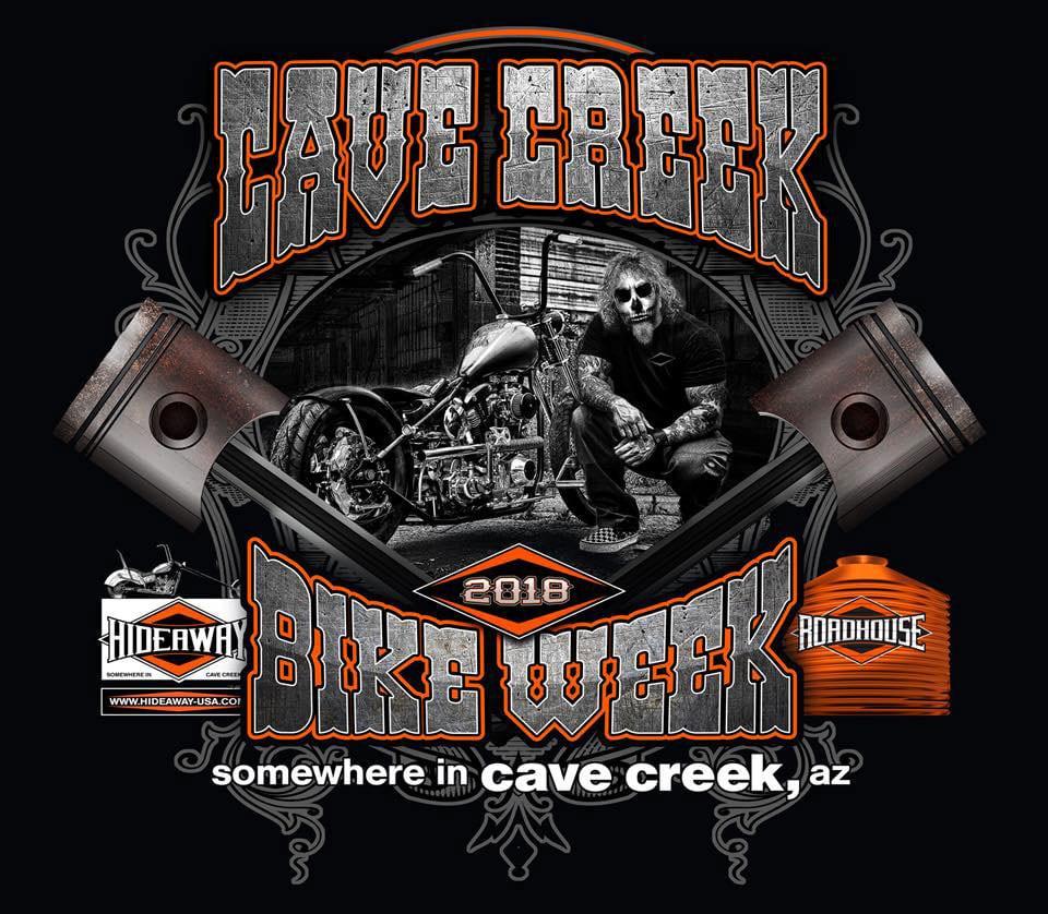 2018 Cave Creek Arizona Bike Week at the Hideaway Grill and Roadhouse.