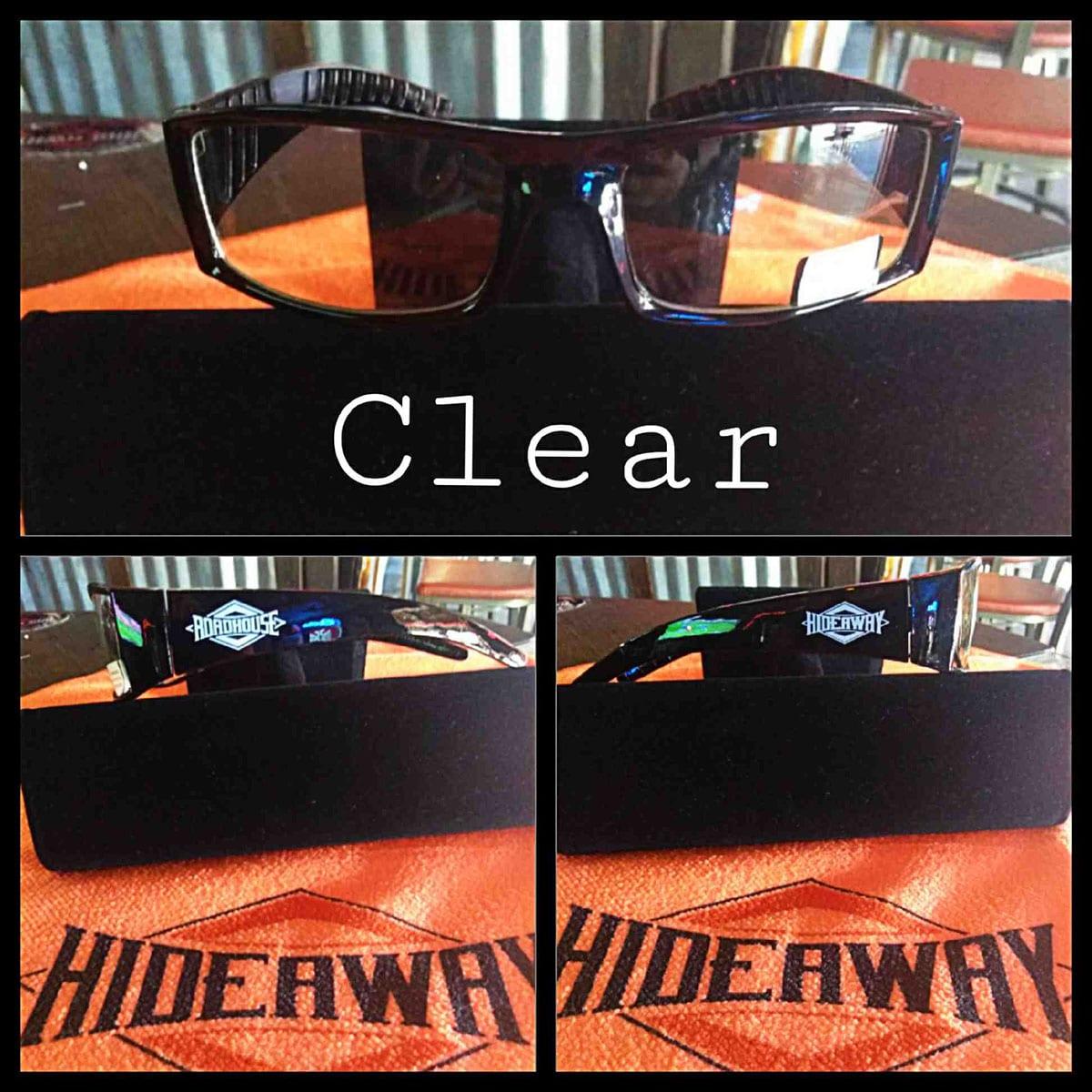 Roadhouse / Hideaway Glasses - Clear Lenses