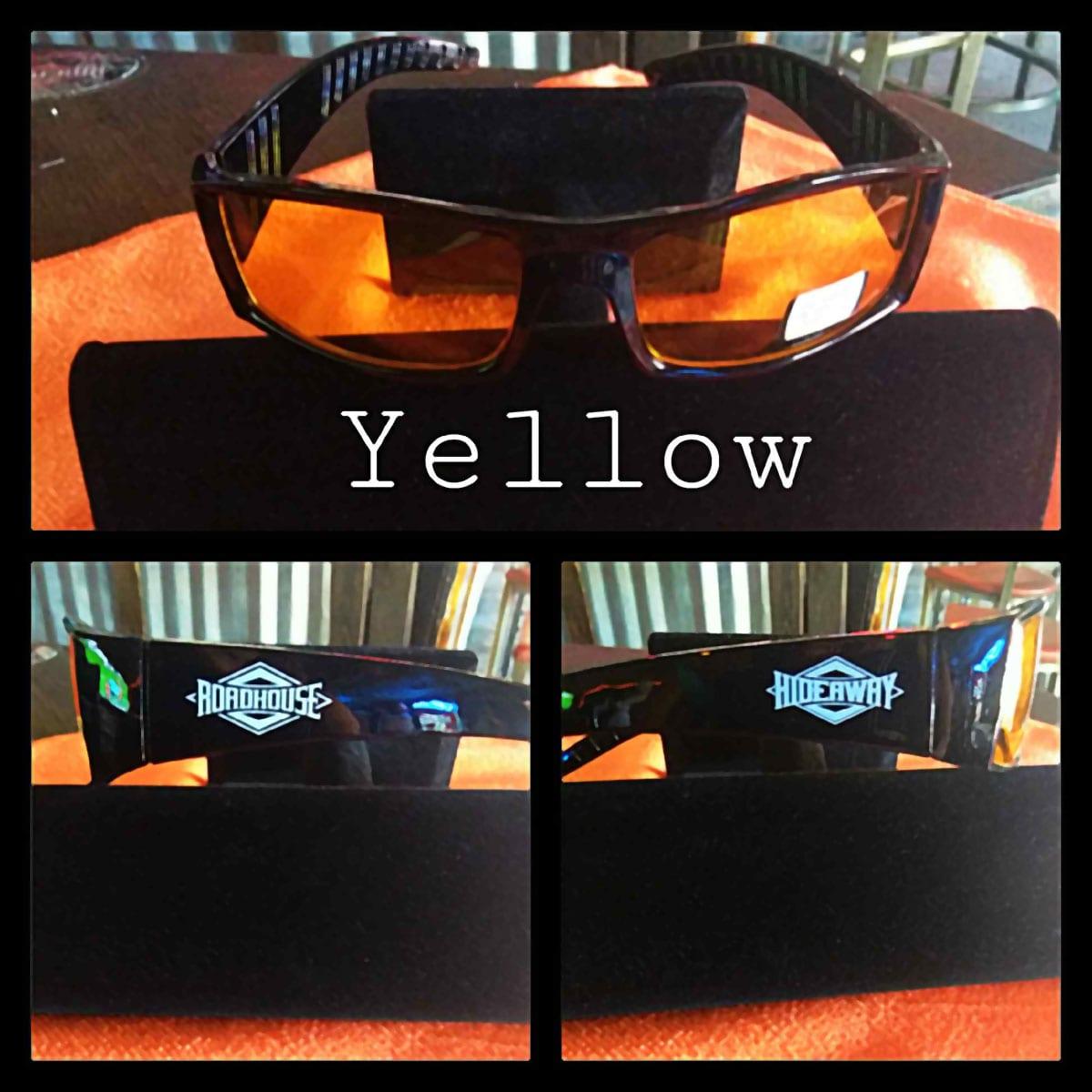 Roadhouse / Hideaway Glasses - Yellow Tinted Lenses