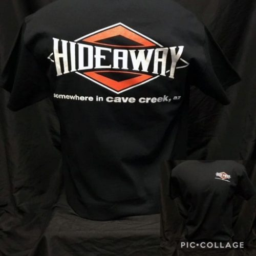 Hideaway: Men's Short Sleeve Diamond Shirt - Black