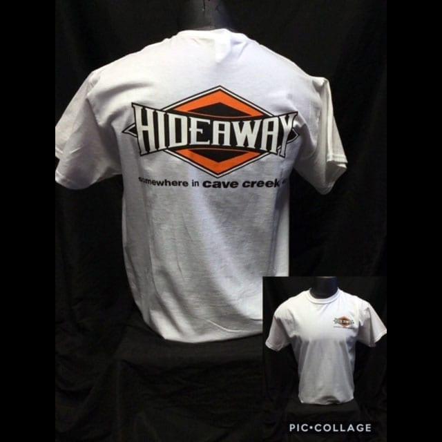 Hideaway: Men's Short Sleeve Diamond Shirt - White