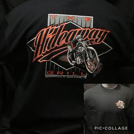 The Hideaway Grill: Men's Short Sleeve Boardracer Shirt - Black