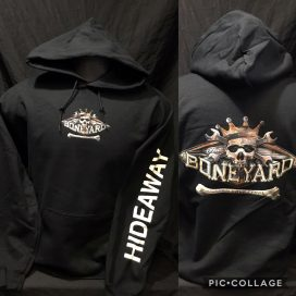 The Hideaway Grill: Men's Pullover Hoodie (Boneyard) - Black