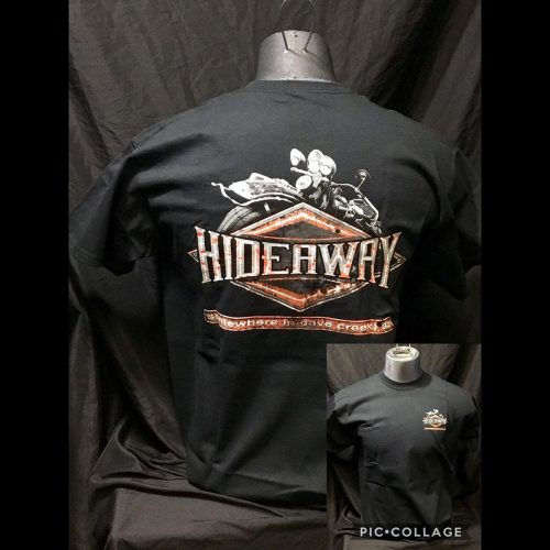 The Hideaway Grill: Men's, Distressed Diamond, Short Sleeve Shirt- Black
