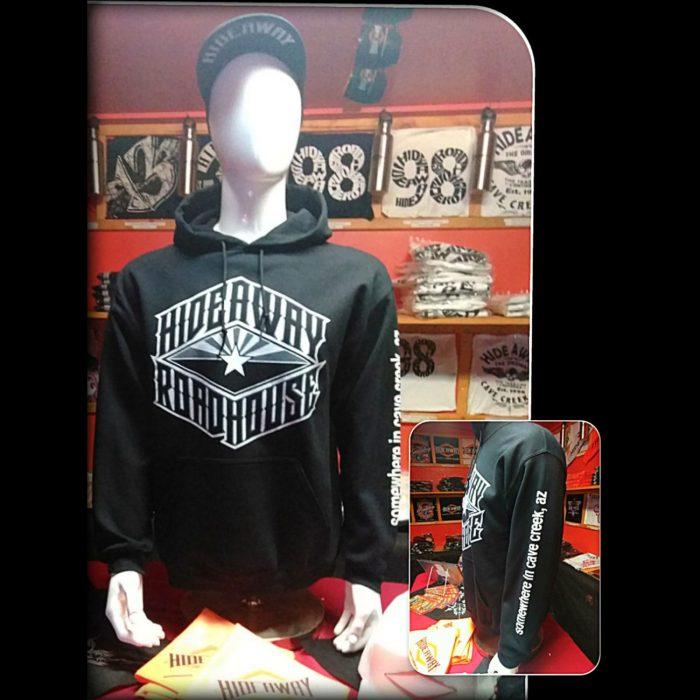 Roadhouse - The Hideaway Grill: Men's Flag Logo Hoodie - Black