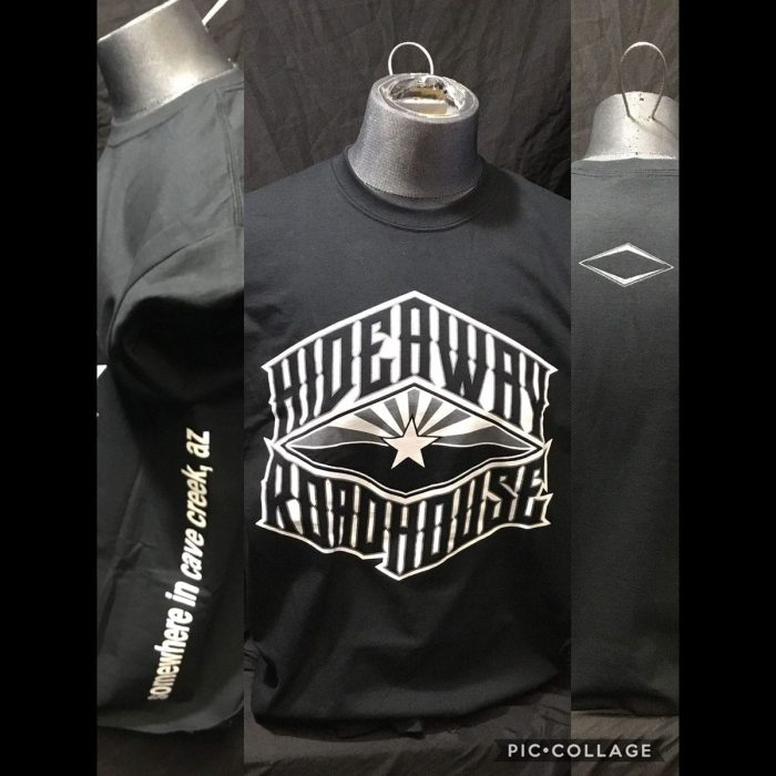 The Hideaway Grill: Flag Logo SS - Black