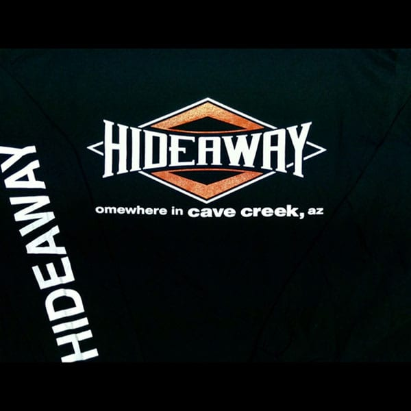 Hideaway: Men's Long Sleeve Diamond Shirt - Black