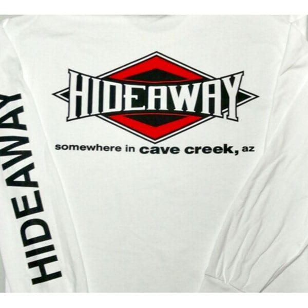 Hideaway: Men's Long Sleeve Diamond Shirt - White