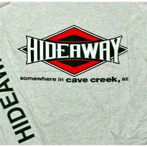Hideaway: Men's Long Sleeve Diamond Shirt - Grey
