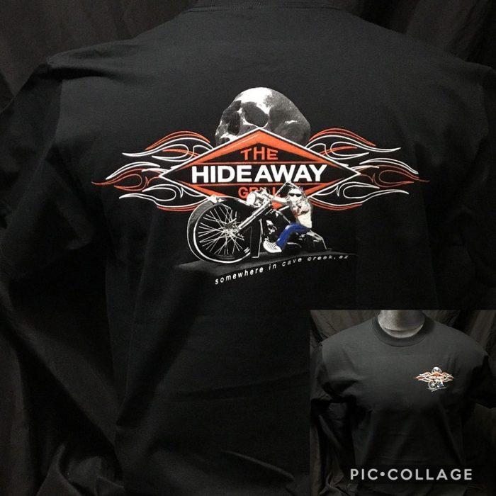 The Hideaway Grill: Men's Short Sleeve Shirt - Mark Cartoon Art - Black