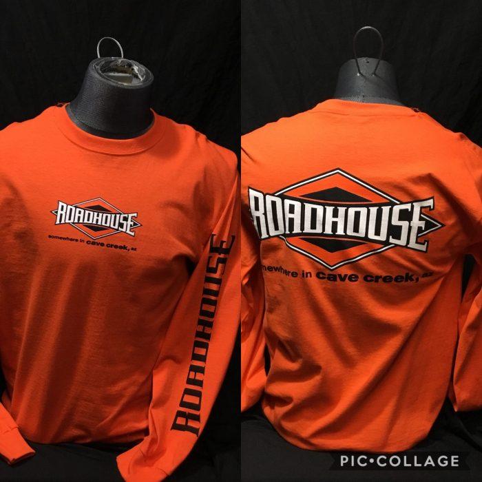 Roadhouse: Men's Long Sleeve Diamond Shirt - Orange