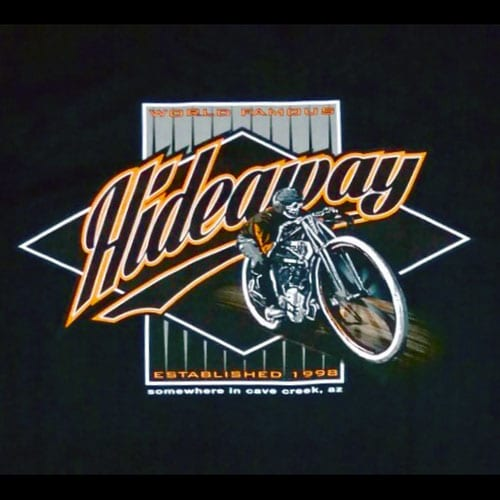 The Hideaway Grill: Men's Short Sleeve Boardracer Shirt - Black