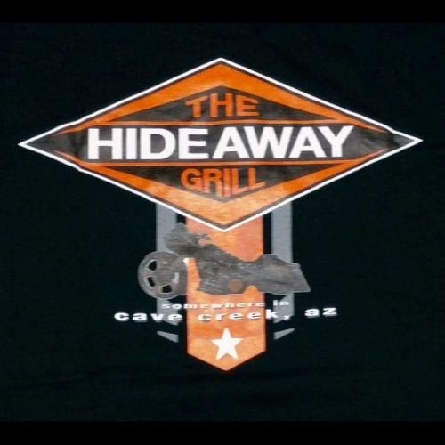 The Hideaway Grill: Men's Bagger Short Sleeve Shirt (New) - Black