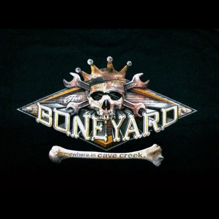 The Hideaway Grill: Men's Short Sleeve Boneyard Shirt - Black