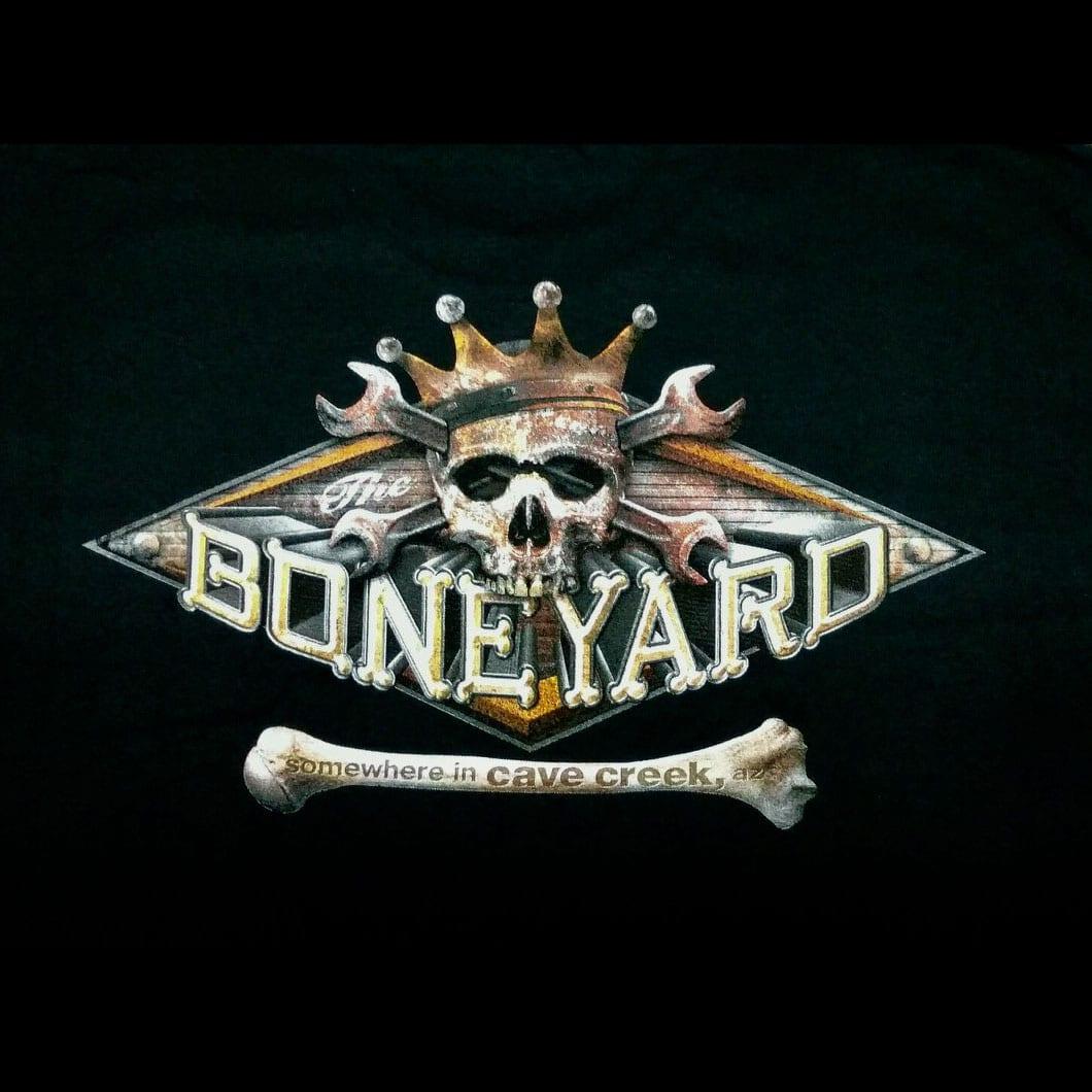 The Hideaway Grill: Men's Pullover Hoodie (Boneyard) - Black