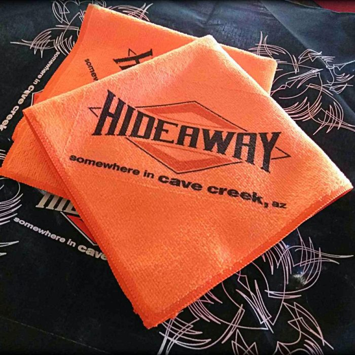 The Hideaway Grill: Micro Fiber Towel - Orange