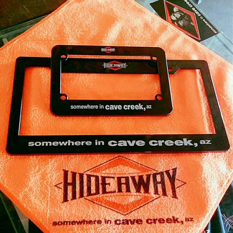 The Hideaway Grill: Motorcycle and Car Plate Covers
