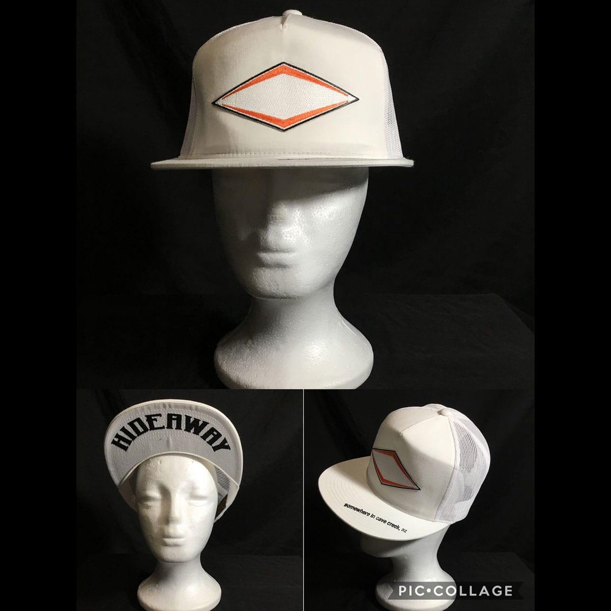 The Hideaway Grill - Cave Creek: Ghost Logo Baseball Cap - White