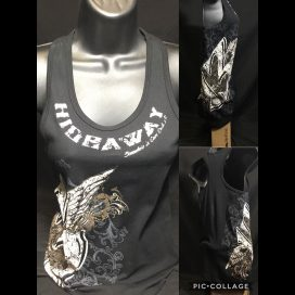 The Hideaway Grill: Women's 13 Year Racerback Tank - Black