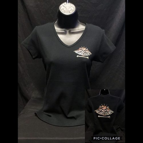 The Hideaway Grill - Women's Boneyard Short Sleeve Shirt - Black