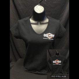 The Hideaway Grill - Women's Diamond Short Sleeve Shirt - Black
