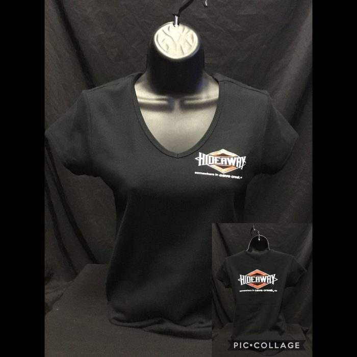 The Hideaway Grill - Women's Diamond Short Sleeve Shirt - Black