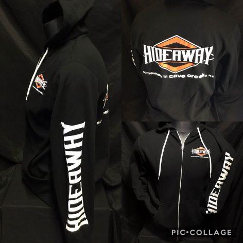 The Hideaway Grill: Women's Zip-Up Hoodie (Diamond) - Black