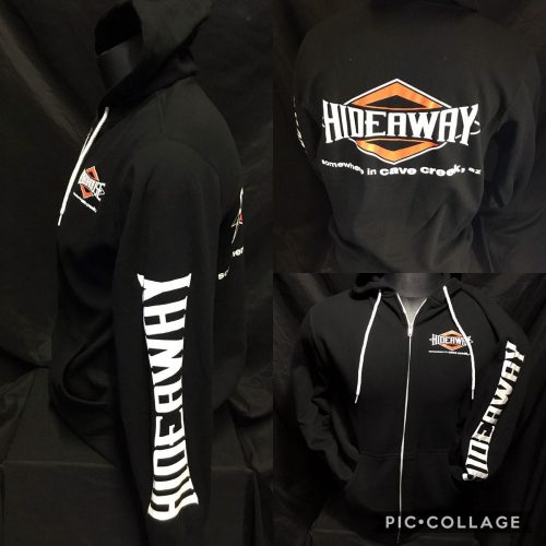 The Hideaway Grill: Women's Zip-Up Hoodie (Diamond) - Black