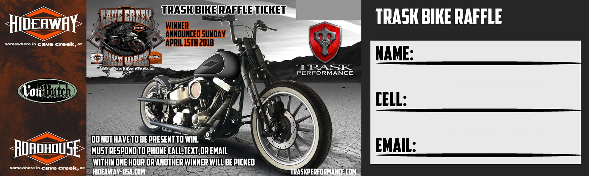 Trask Bike Raffle - Win This Bike - All Proceeds Go To Charity
